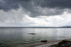Dark Lake Ripples Stock Photography