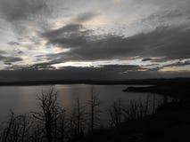 Dark Lake Skies Stock Photo