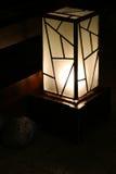 Dark lamp. Beautiful lamp in a dark room royalty free stock photography