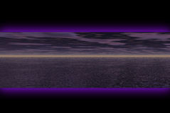 Dark landscape banner Royalty Free Stock Photo