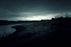 Dark landscape in the forest Royalty Free Stock Images