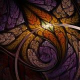 Dark leafy fractal shape Royalty Free Stock Photo