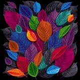 Dark leaves background Royalty Free Stock Images