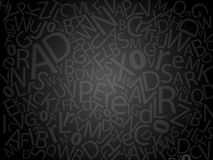 Dark letters Stock Photography