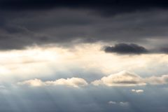 Dark and light. Clouds with possible storm coming Royalty Free Stock Image