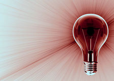 Dark light bulb emitting Royalty Free Stock Images