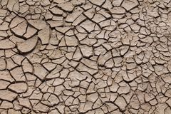 Dry soil texture pattern inside the drying riverbed. Dark and light dry soil texture pattern inside the dry riverbed in the desert Royalty Free Stock Images