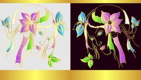 Dark and light fairy Stock Image