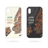 Phone cases NY map stock photography