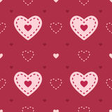 Dark and light pink seamless heart vector pattern Stock Image