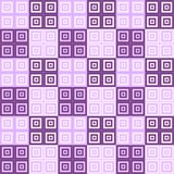 Dark and light purple and white squares inside squares cube pattern background. Wallpaper Stock Photo