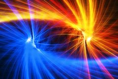 Dark and light side. Abstract rendered illustration Royalty Free Stock Photo