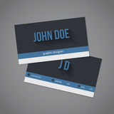Dark and light stripes business card set Stock Images