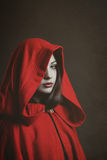 Dark Little red riding hood Stock Photos