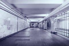 Dark and long underground passage. Stock Photos