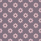 Dark lovely vector seamless pattern with flowers royalty free illustration