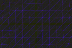Dark low poly displaced surface with glowing connecting lines. Abstract futuristic background made of polygonal shape. Dark low poly displaced surface with Stock Photo
