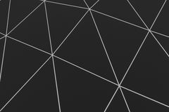 Dark low poly displaced surface with glowing connecting lines. Abstract futuristic background made of polygonal shape. Dark low poly displaced surface with Stock Photos