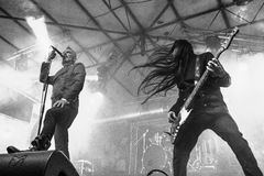 Dark Lunacy live at Insubria Festival 2017 MI. Milan, Italy. 24st April, 2017. Italian melodic death metal band performance at Insubria Festival 2017. © Stock Photos