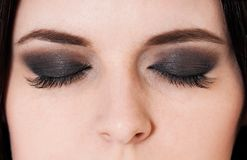 Dark make-up Stock Images