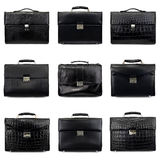 Dark male briefcases-1 Stock Photos