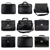 Dark male briefcases-2 Stock Photos