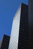 Dark Manhattan Skyscrapers Royalty Free Stock Photography