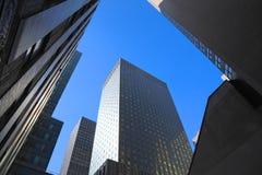 Dark Manhattan Skyscrapers Royalty Free Stock Photos
