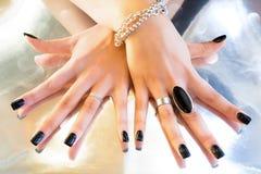 Dark manicure Stock Image