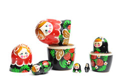 Dark matreshka doll Stock Photography