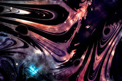 Dark Matter Universe. Abstract Illustration Suitable for Scientific Context royalty free illustration