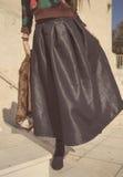 Dark maxi skirt Stock Image