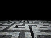 Dark maze Stock Images