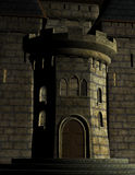Dark Medieval Castle Entrance Illustration Stock Image