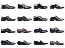 Dark men's shoes-1 Stock Photos