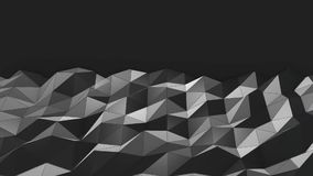 Dark Mesh Abstract Low Poly Background stock video footage