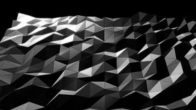 Dark Mesh Abstract Low Poly Background stock video