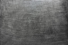 Dark metal background, gray texture steel stains from the brush. Gray metal sheet background, iron or aluminum texture Royalty Free Stock Photo