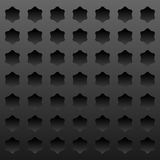 Dark metal background with indented stars Royalty Free Stock Images