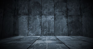 Dark Metal Room Background Royalty Free Stock Images