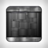Dark metal texture icon Royalty Free Stock Photo