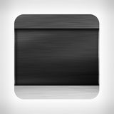 Dark metal texture icon Stock Image