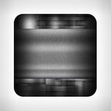 Dark metal texture icon. (button) on neutral background, template for applications (app), web user interfaces, internet sites and business presentations stock illustration