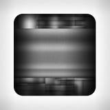 Dark metal texture icon Stock Photography
