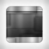 Dark metal texture icon Stock Image