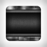 Dark metal texture icon. (button) on neutral background, template for applications (app), web user interfaces, internet sites and business presentations vector illustration