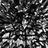 Dark metallic futuristic chaotic abstract silver background Royalty Free Stock Images