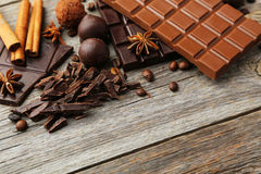 Dark and milk chocolate bar Stock Photography