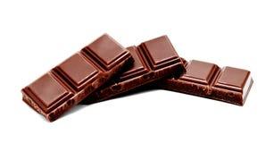Dark milk chocolate bars stack isolated Royalty Free Stock Image