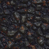 Dark mineral close up Stock Images